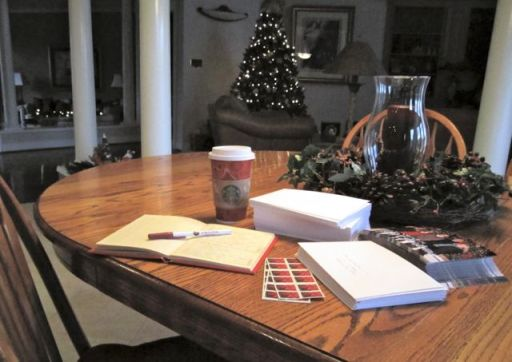 WritingChristmasCards