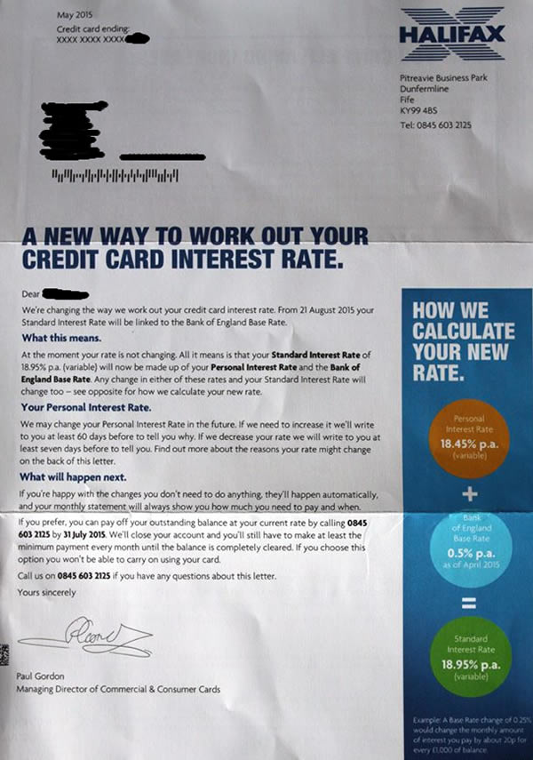 Halifax and the credit card interest rate rules · Debt Camel