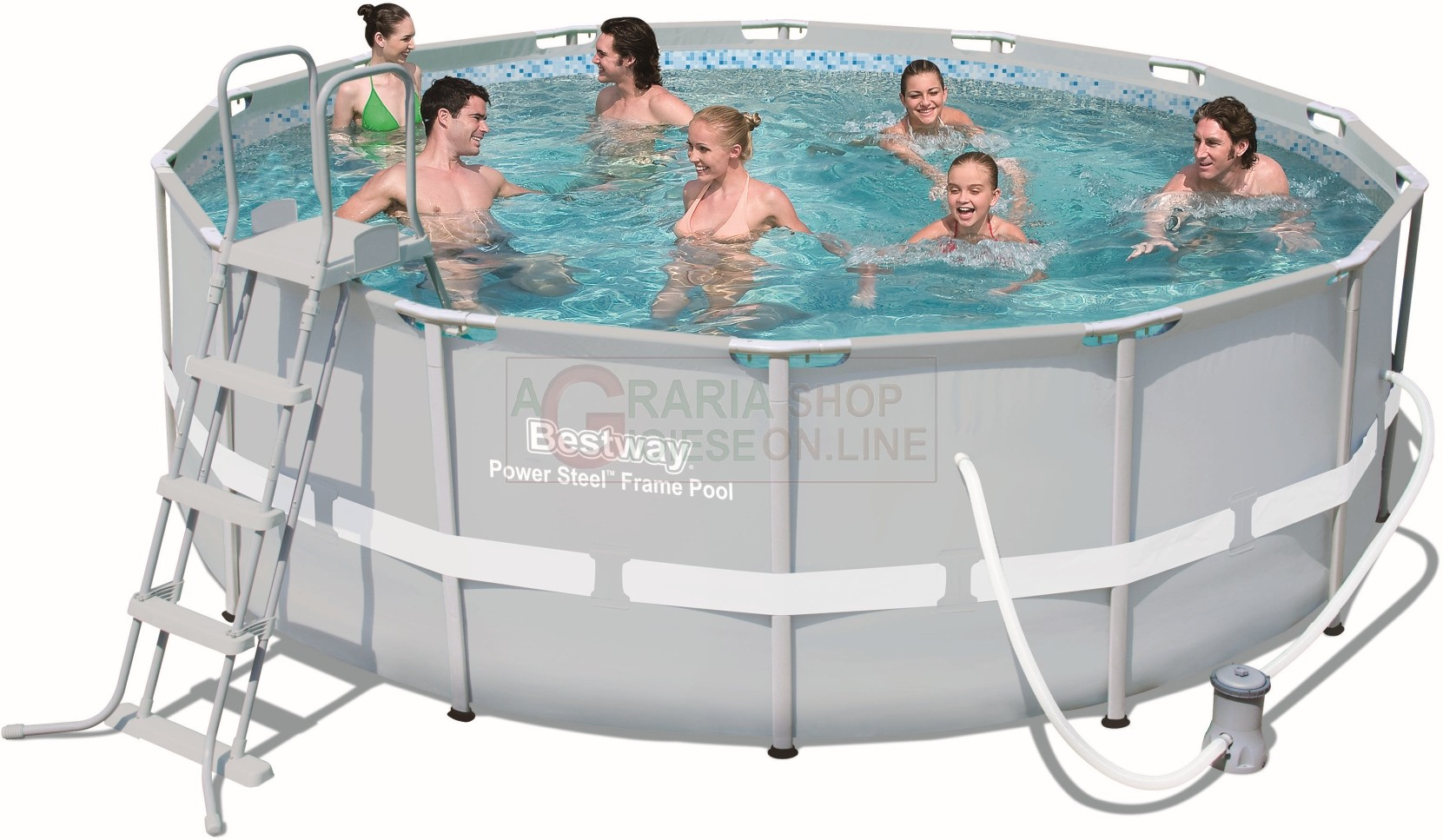 Frame Pool Bestway Bestway 56444 Swimming Pool With A Chassis Power Steel Frame Cm 427x122h