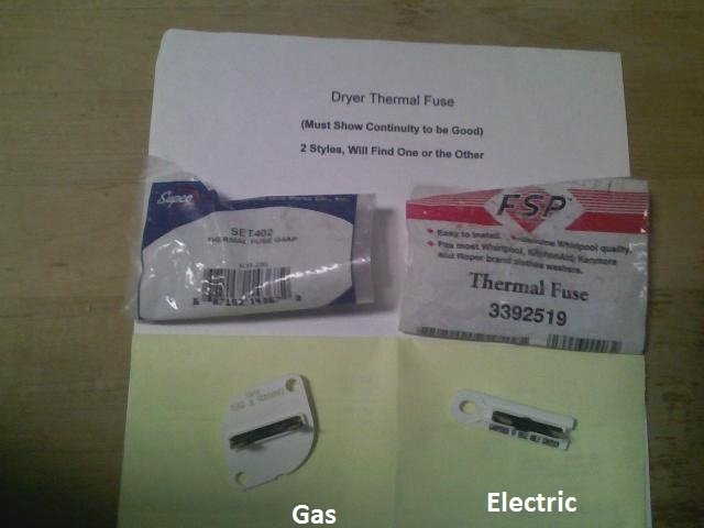 How Do You Check The Thermal Fuse To See If It Is Bad? My Dryer Runs