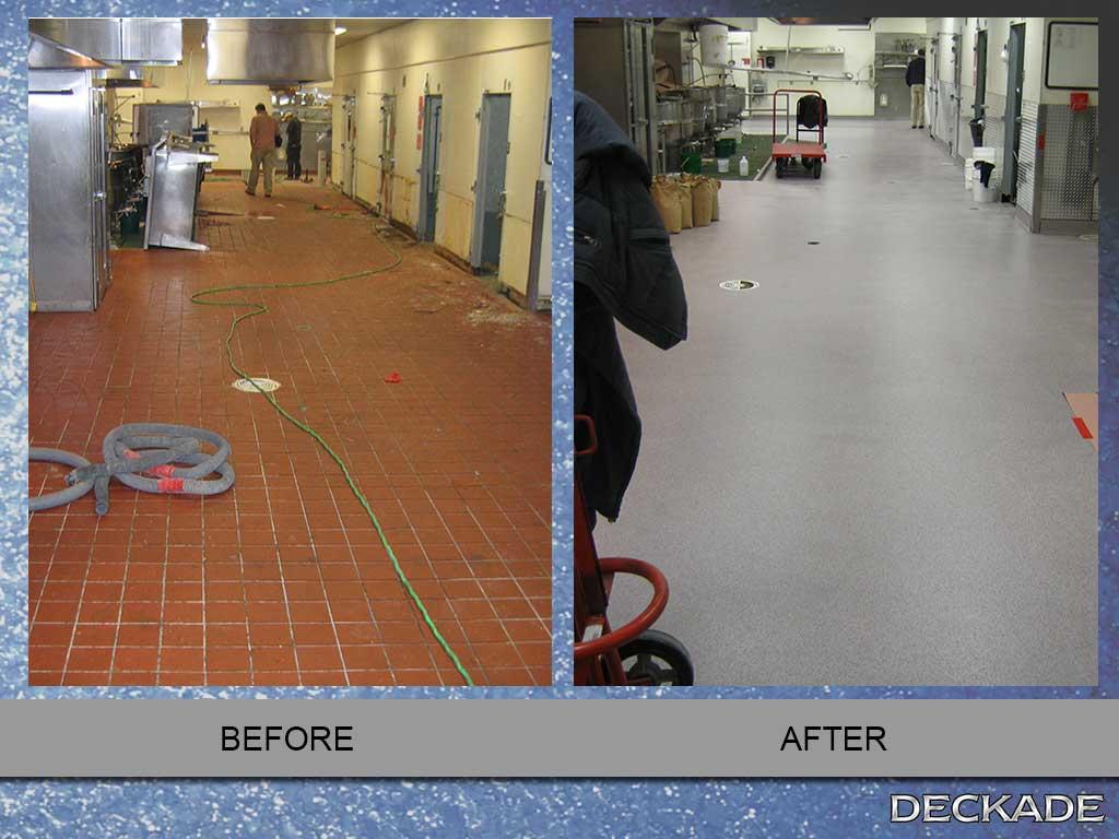 before and after flooring gallery commercial kitchen flooring Kitchen floor brio trench