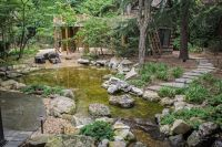 Natural Playscapes: Pond and Playground Oasis in City Backyard