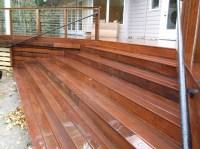 wide ipe stairs  Deck Masters, llc  Portland, OR