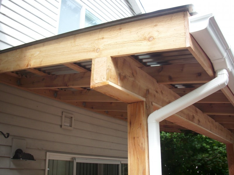 Cedar Wrapped Post And Beam Deck Masters Llc