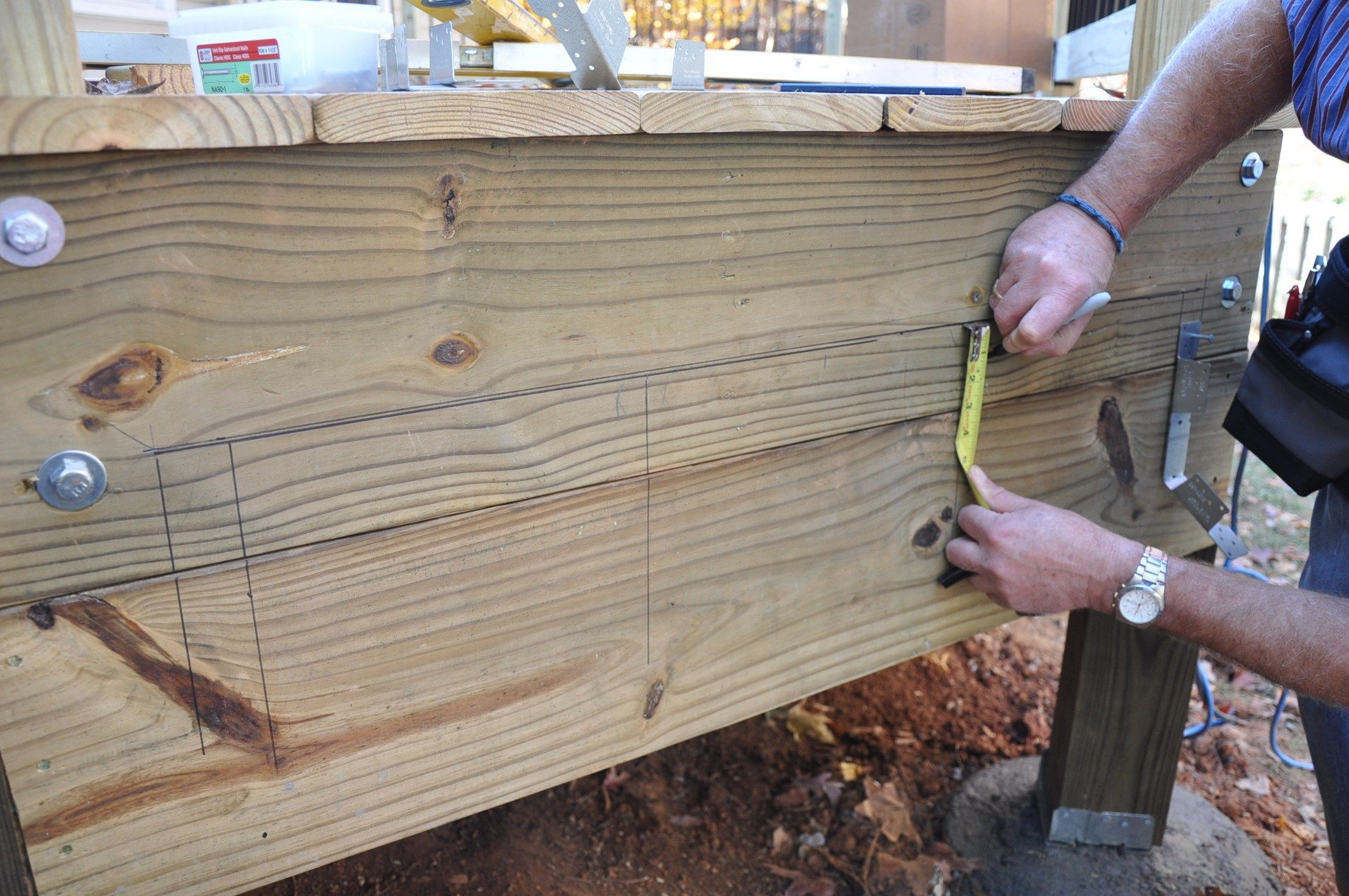 How To Lay Out Attach Stair Stringers To Your Deck