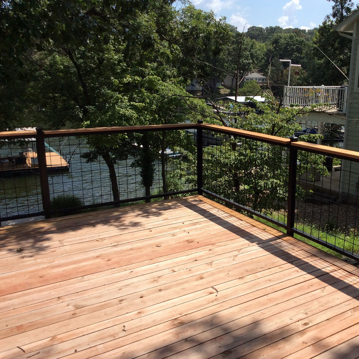 Decking Panels 4x4 Mesh Level Rail Panels By Wild Hog Railing 36 In 6 Ft Silver