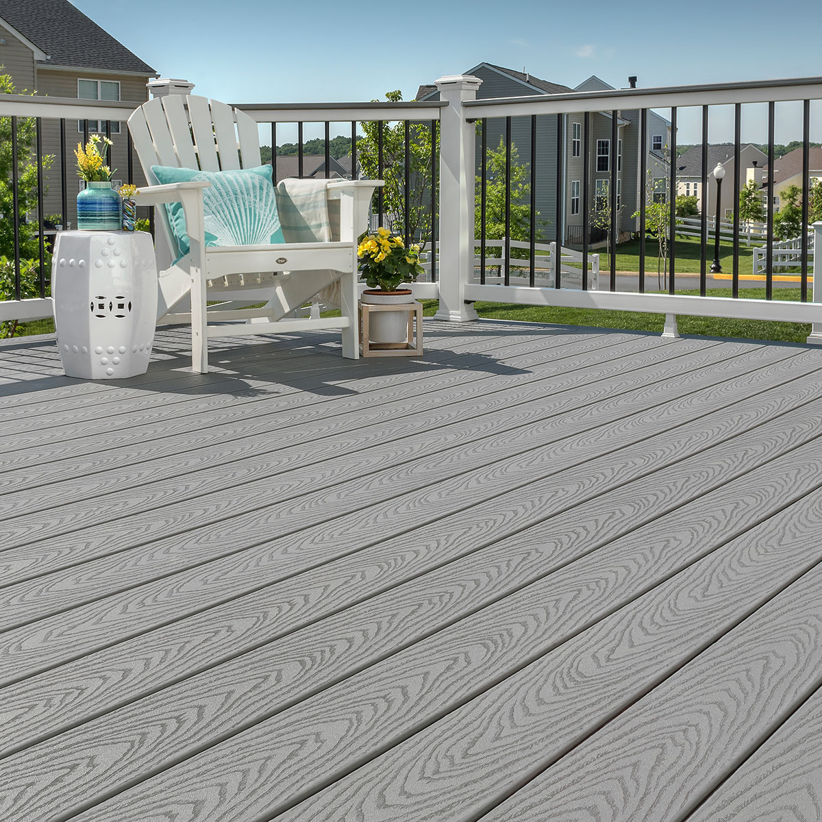 Synthetic Deck Boards Trex Select Square Edge Deck Boards Madeira 16 Ft 2 X 6 In