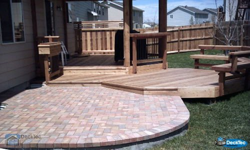 Deck And Stone Patio Combination Outdoor Goods