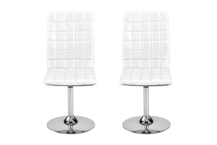 Chaises Pivotantes Lot De 2 Chaises Pivotantes Kate Blanc - Chaise Design Pas