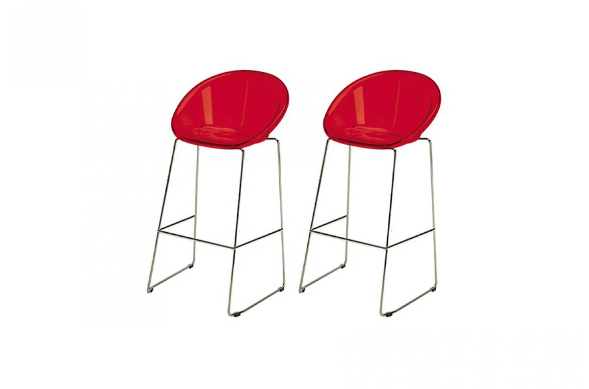 Lot De 2 Tabourets De Bar Design Rouge Bold Tabouret De Bar Pas Cher