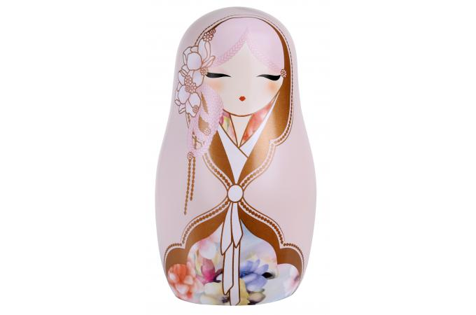 Taille Table Basse Poupée Russe Kimmidoll Rose Pastel 12,6 Cm - Statue Design
