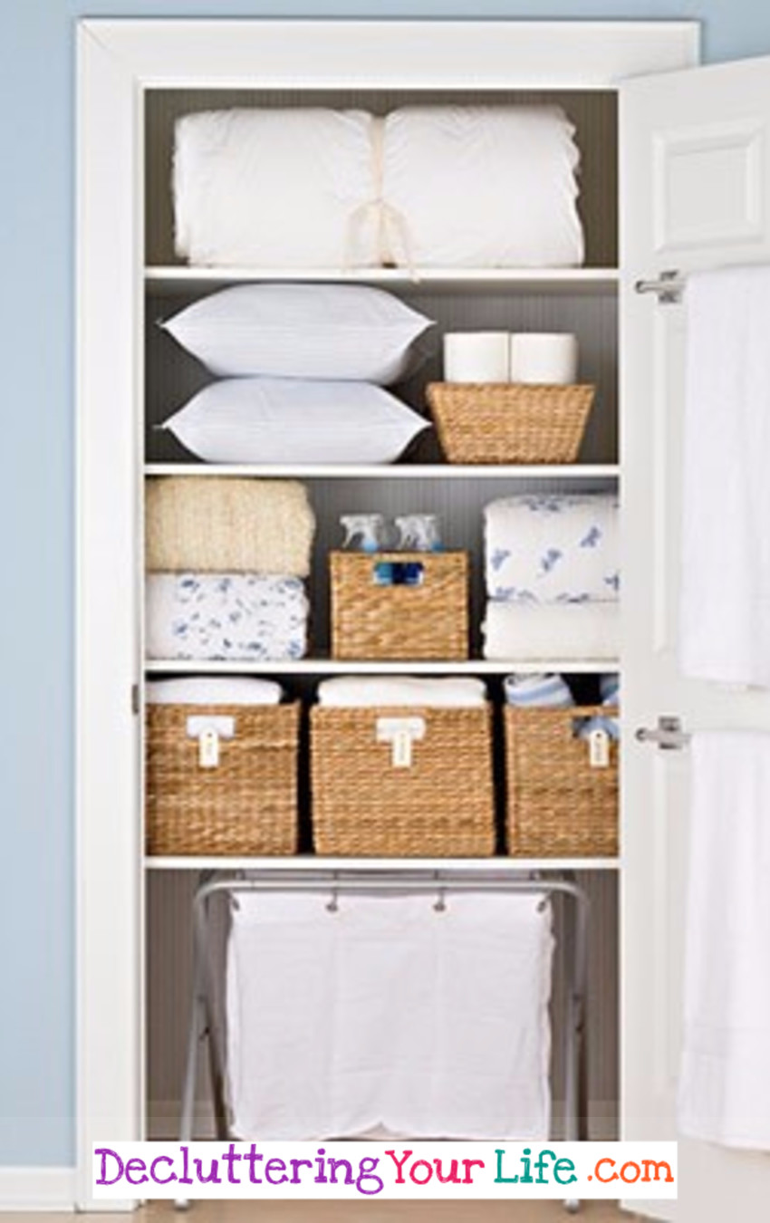 Bathroom Linen Closet Ideas Diy Linen Closet Decluttering And Organization Ideas