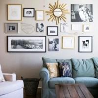 Living Room Gallery Wall Ideas | Desainrumahkeren.com