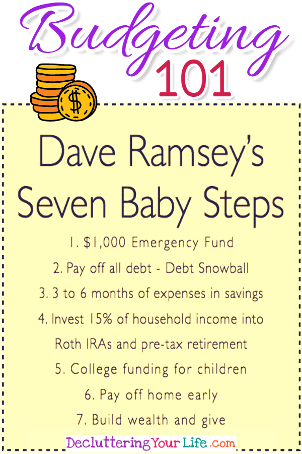 Budgeting 101 - Dave Ramsey\u0027s Debt Snowball to be Debt Free in 2019