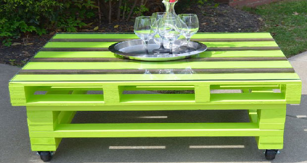 Table Basse Jardin Palette