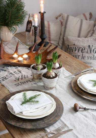 Faire Un Mur En Palette Bonne-idee-table-de-noel-centre-de-table-a-faire-soi-meme