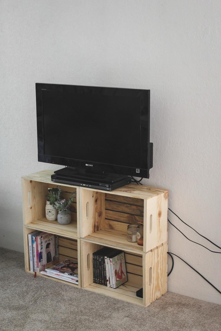 Salon Tv Design 30 Diy Pour Fabriquer Son Meuble Tv | Diaporama Photo