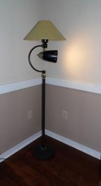 Vintage Mid Century Modern Pole Floor Lamp Bullet Light ...