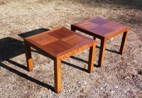 Vintage Pair Mid Century Modern Lane Solid Walnut End ...