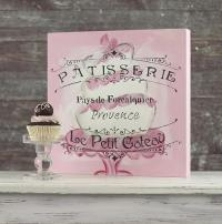 Stenciled French Bakery Window Canvas - Project by DecoArt