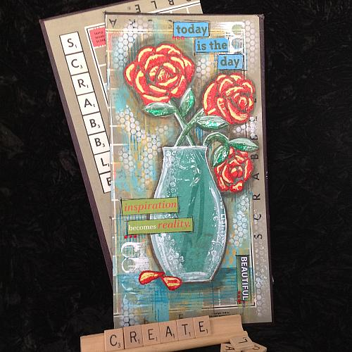 Charcoal Grey Recycled Materials Mixed Media Art - Project By Decoart