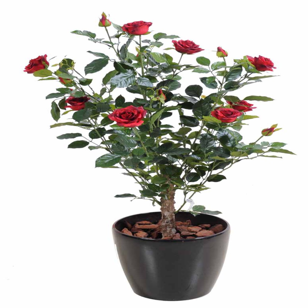 Grandes Plantes Artificielles Rosier Artificiel Rouge Decobac