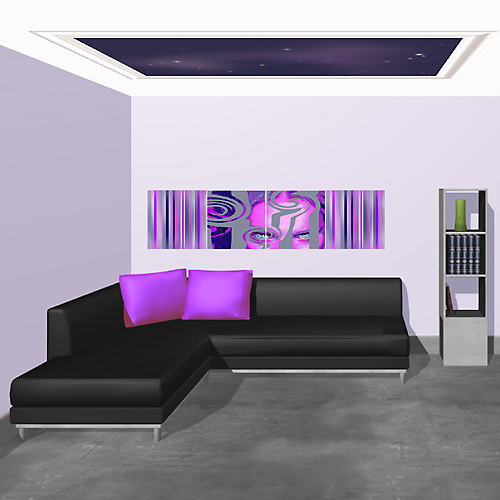 Tableau Pour Decoration Salon Deco Salon: Regard Violet