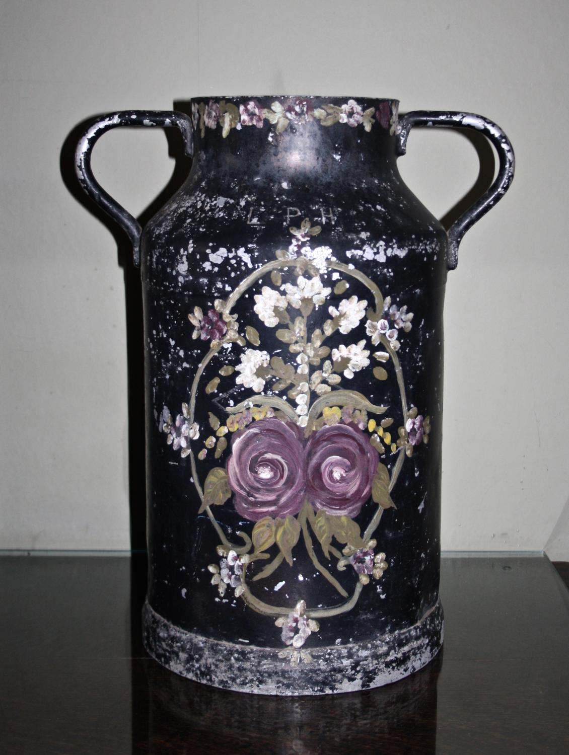 Decorative Milk Urn Vintage Painted Milk Churn In Decorative