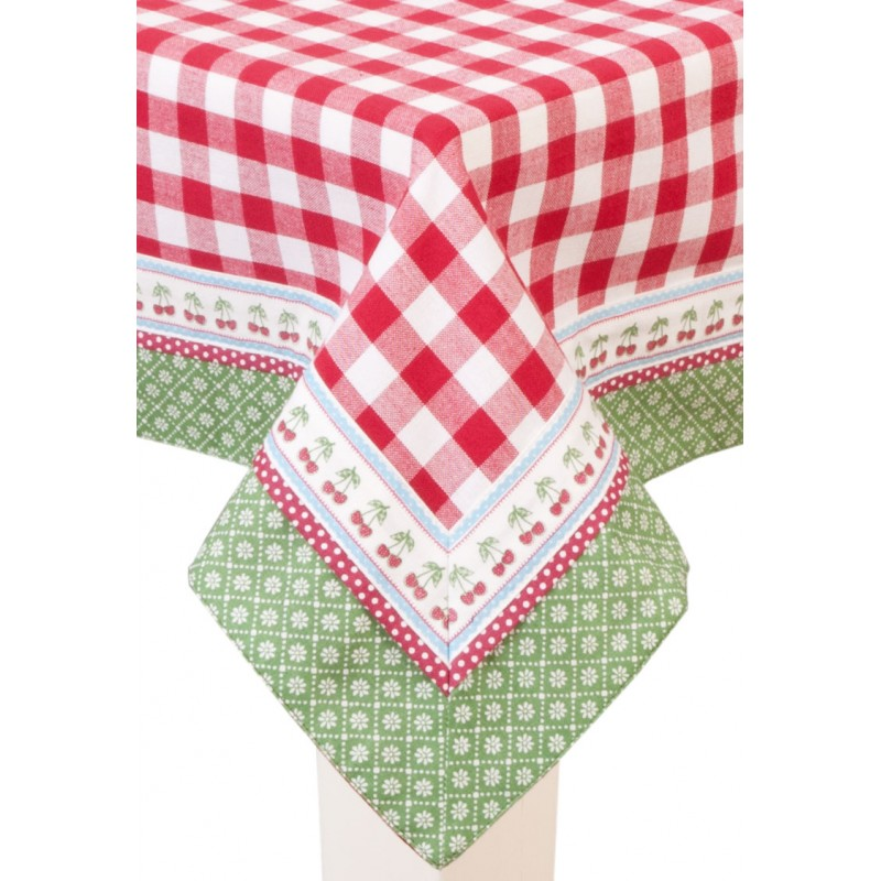 Kerst Tafellaken Red Square Tablecloth Tablecloth 150 X 150 Cm By Clayre & Eef
