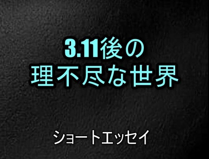3.11後の理不尽な世界
