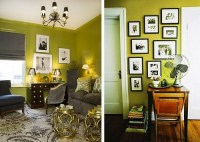 Chartreuse Living Rooms - Decoholic