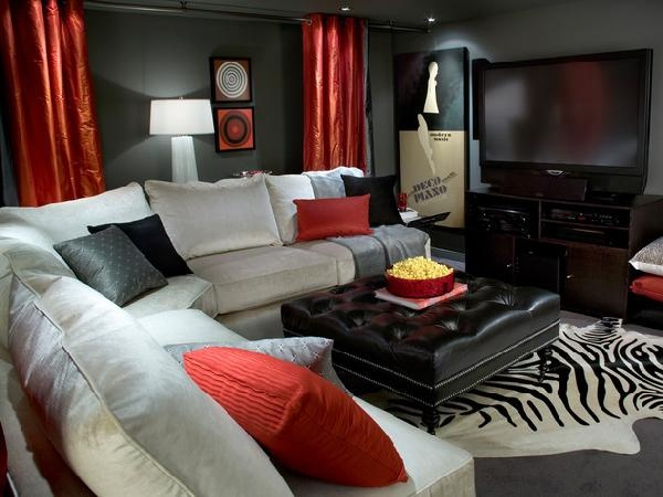 100+ Best Red Living Rooms Interior Design Ideas - black and red living room ideas