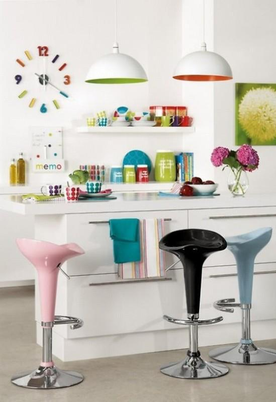 inspiring colorful kitchen design ideas decoholic stylish table eat small kitchen ideas decoholic