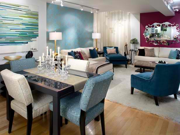 26 Amazing Living Room Color Schemes - Decoholic - teal living room furniture