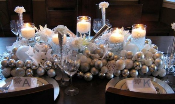 Gallery for gt silver christmas table decorations