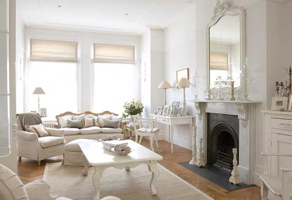 37 Dream Shabby Chic Living Room Designs - Decoholic - french style living room