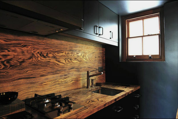 wood kitchen backsplash idea wood backsplash