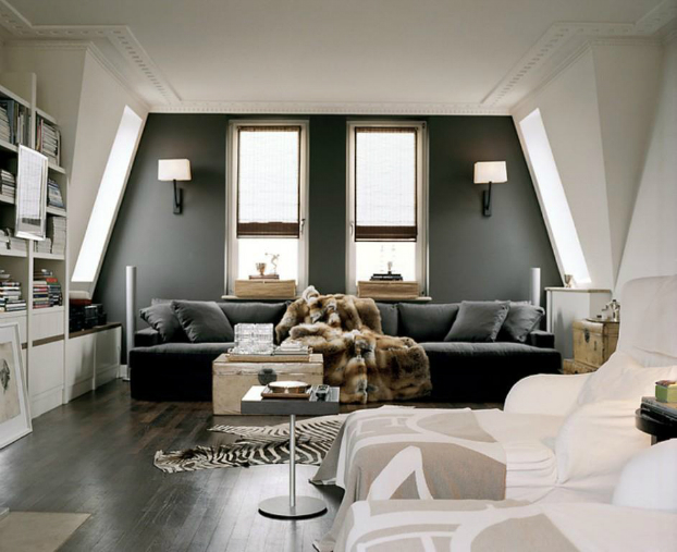 Schlafzimmer Set Dubai Living Room With Dark Dramatic Walls: 30 Ideas - Decoholic