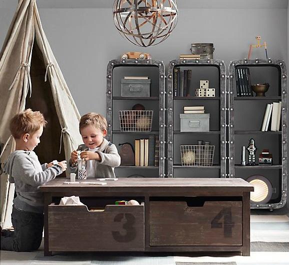 Vintage Industrial Yet Cute Kids' Playroom Ideas 9