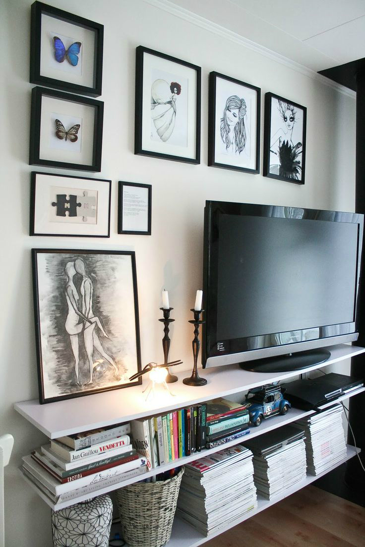 Ideas For Decorating Around A Flat Screen Tv 40 Tv Wall Decor Ideas Decoholic