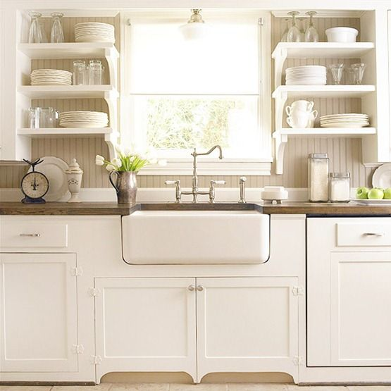 26 Kitchen Open Shelves Ideas - Decoholic - open kitchen shelving ideas