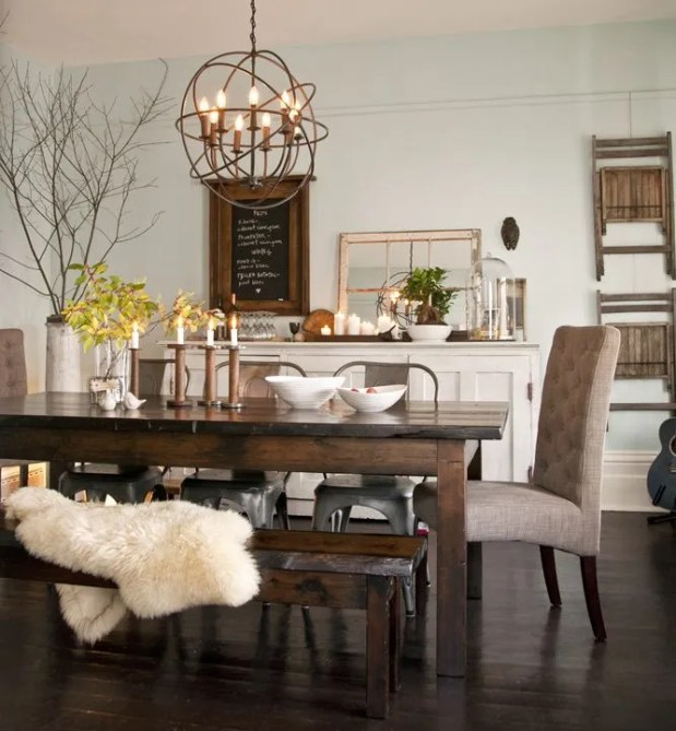 rustic dining room ideas - decoholic