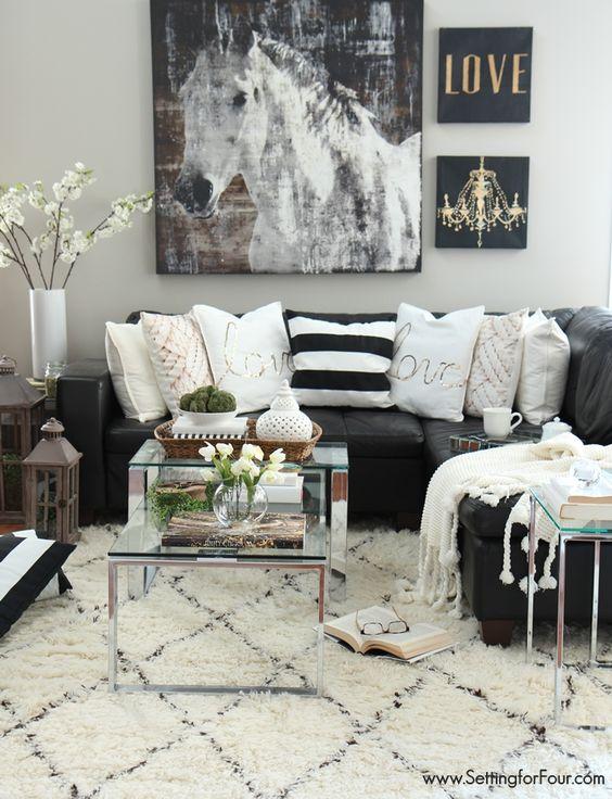 48 Black and White Living Room Ideas - Decoholic - black and white living rooms