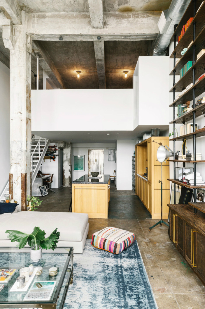Marble Top Kitchen Island Transitioning A Sprawling Industrial Loft To A Cozy Home