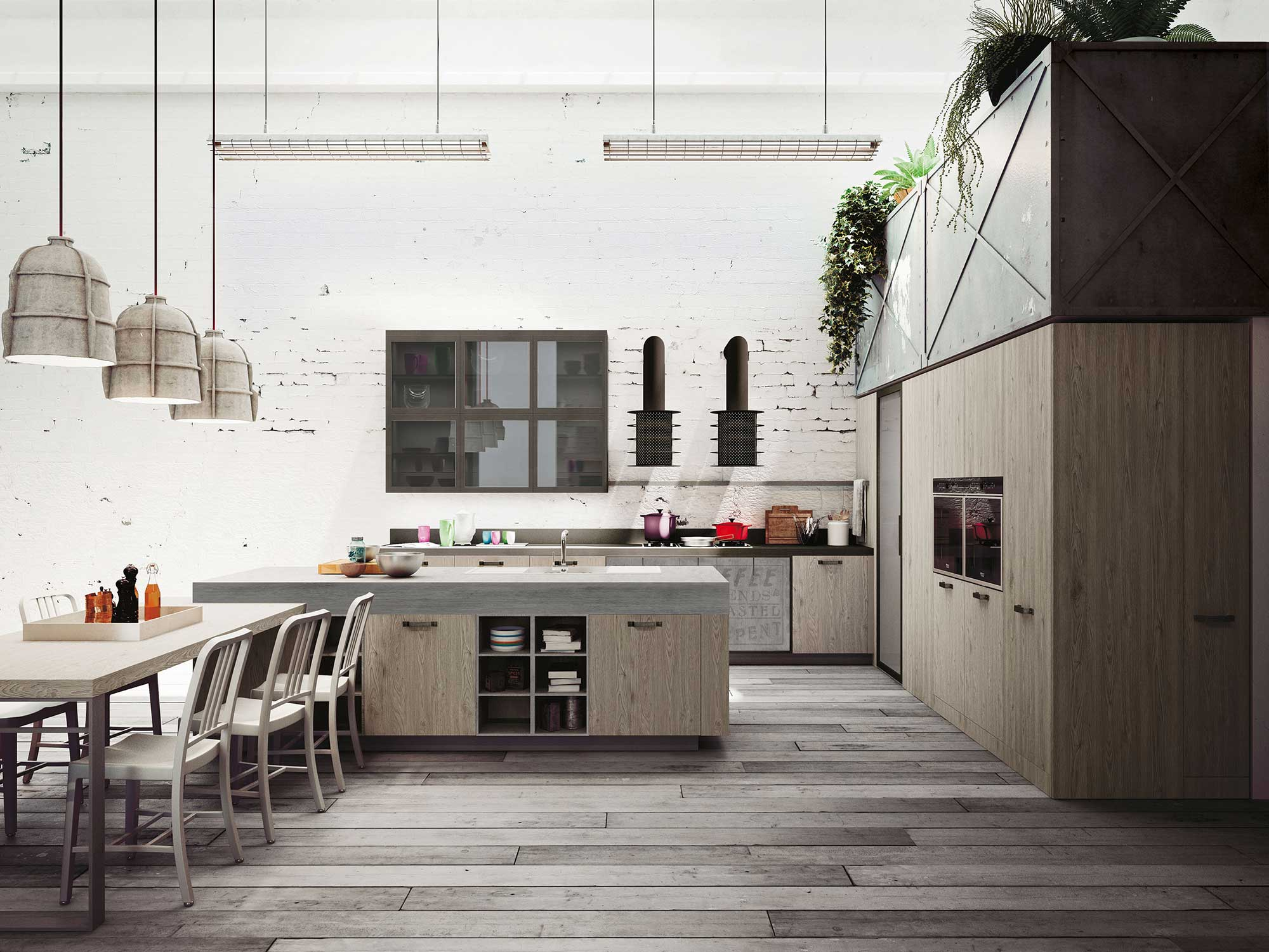 "Snaidero Cuisine Expression Of The Latest ""urban"" Trends: Loft Kitchen"