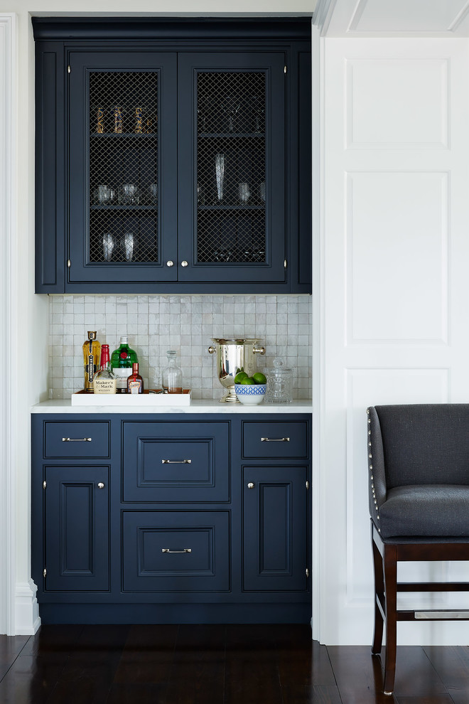 How To Build A Kitchen Island Using Wall Cabinets Great Ideas Using Navy Blue Kitchen Cabinets | Decohoms