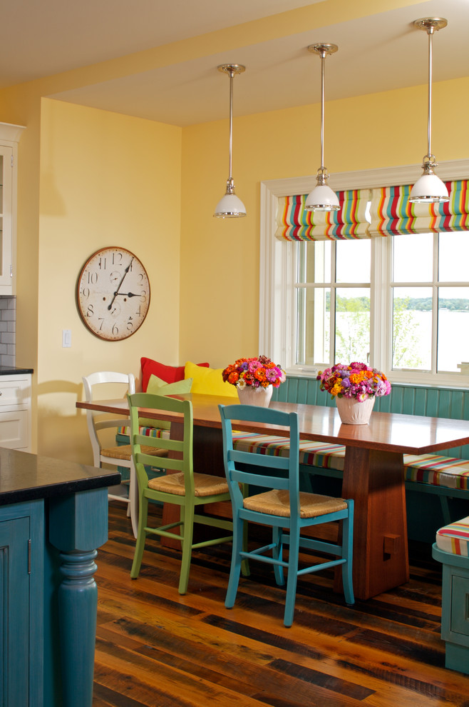 Table Island Kitchen Awesome Traditional Dining Room Bright Colour Schemes
