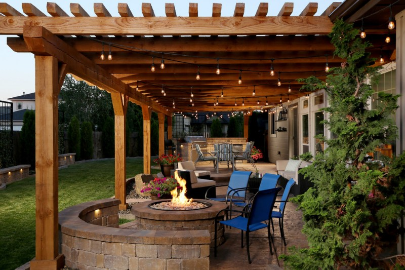 Decorative String Lights Cool Backyard Patio Covers To Get Cover Design Ideas From