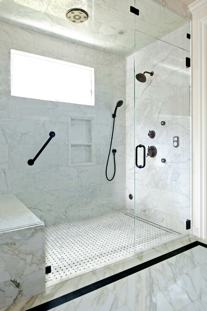 Bathroom Mirror With Storage Fabulous Carrera Marble Bathrooms To Be Awestruck By
