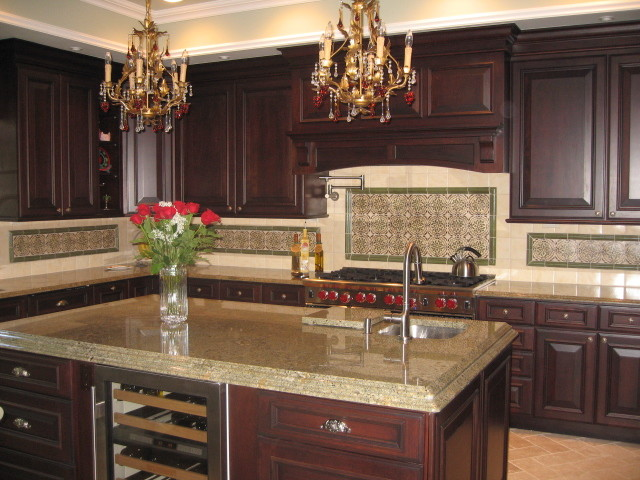 Kitchen Floor Plans Island Precious Spanish Tile For Your Kitchen Backsplash | Decohoms